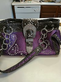 Purple purse with bling