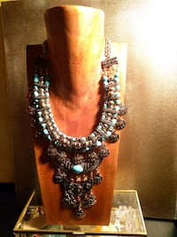 black and blue beaded necklace Corona, 92882