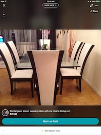 brown wooden dining table set Toronto, M4S 1G4