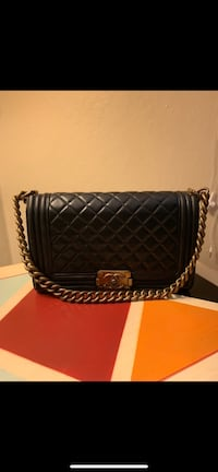 Chanel purse real leather