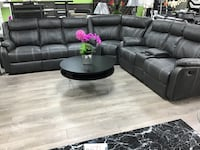 Sectional With 4 recliners, console 2 drawers , take it home with just $40 down Las Vegas, 89115