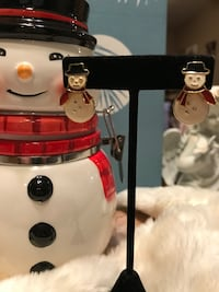 Adorable! Pierced Post Snowman Earrings Gainesville, 20155