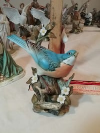 1984 HOMCO Masterpiece Porcelain Blue Bird Falling Waters, 25419
