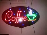 LED hanging coffee sign, Great condition  Austin, 78748