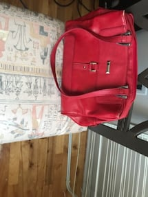 A red leather purse.  $50