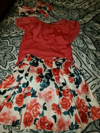 red and black floral dress Pharr, 78577