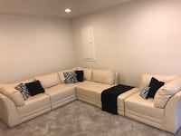 Cream Sectional w/pillows  Fort Washington