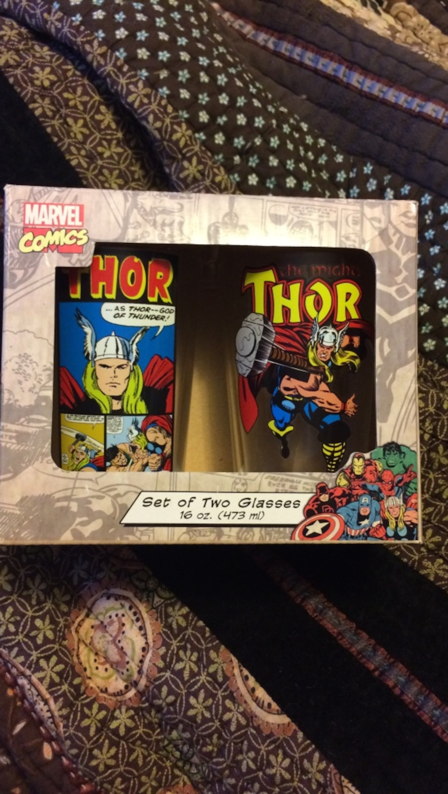 Set of 2 Thor Glass Cups