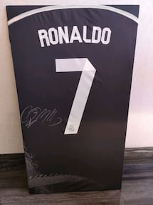 Ronaldo Autographed Real Madrid Jersey
