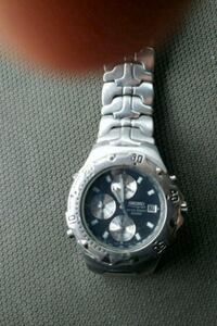round silver-colored chronograph watch with link bracelet Fort Worth, 76104