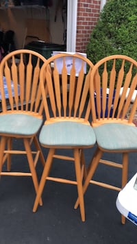 3 solid wooden stools, like new! Zion Crossroads, 22942