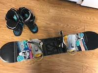 K2 vandal snowboard size 137cm with black and blue size 9 boots Andover, 03216
