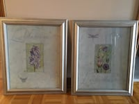 two white wooden framed painting of flowers Toronto, M2J