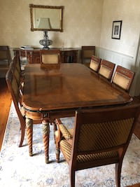 Dining Room Table with Hutch and Chairs Bluemont, 20135