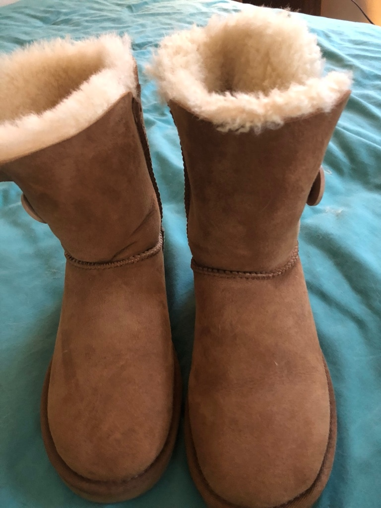 pair of chestnut UGG Bailey Button boots for sale  Manheim