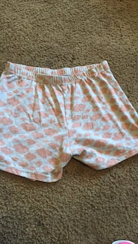 women's white and pink shorts
