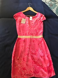 pink and white floral cap-sleeved dress Citrus Heights, 95610