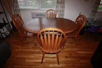 Wood Dining Table w/ 4 Chairs Linden