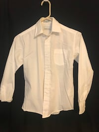 Boys Dress Shirt-white Size 10