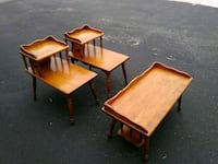 Vintage End tables and center table