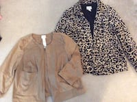 Chico's Faux Suede & Leopard Jackets Size 0 Woodbridge, 22191