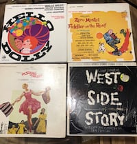 4 Records- Fiddler on the Roof, Hello Dolly,  West Side Story and The Sound of Music 104 mi