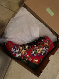 red floral leather high top boot Deerfield Beach, 33441
