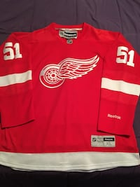 red and white Boston Red Wings jersey