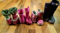 Girl's Winter Snow Boots, Rain boots size 11-12 Mississauga, L5W