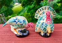 Beautiful Antique Handcrafted Thanksgiving Salt & Pepper Shakers Falls Church, 22046