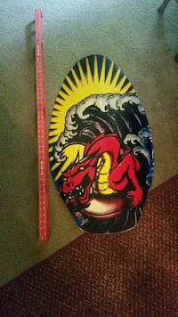 Skim board Surfboard dragon with sea wave painted surf board