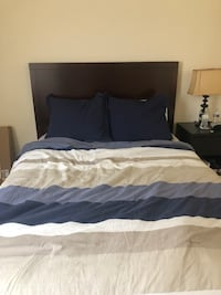 Bedroom set : queen bed with two side tables and a desk with chair Virginia Beach, 23451