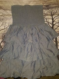 gray and white floral sleeveless dress Cypress, 77429
