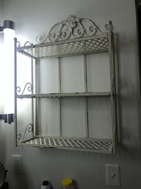 Wrought iron shelf