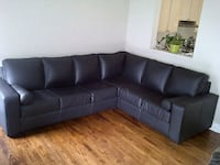 Genuine Black Leather Sectional  Vaughan, L6A 3Y9