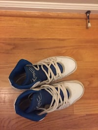 pair of white-and-blue Nike basketball shoes Smyrna, 30080