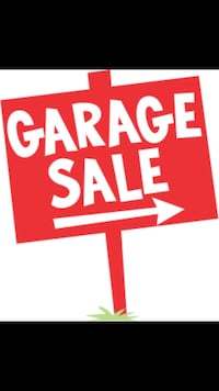 Red and white garage sale signage Gatineau, J8Y 3P2
