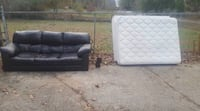 two gray leather sofa chairs Sandy Springs, 30350