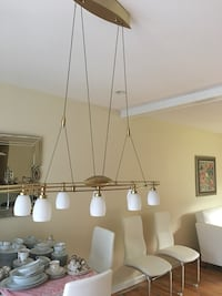 Brushed Brass contemporary pull down chandelier  Northford, 06472