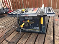 black and gray Mastercraft table saw Calgary, T1Y 2A4