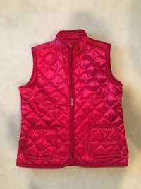 Red Quilted Vest, Size M