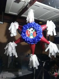 red and blue star home decor