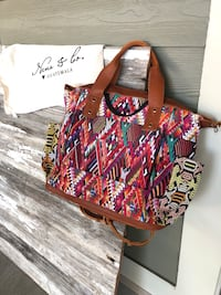 Women's multicolored Nena & Co One of a Kind Convertible Day Bag Athens, 35613