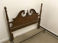 brown wooden headboard and footboard Abbotsford, V2T 2H3
