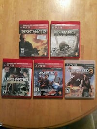 Uncharted 1,2,3 for PS3 and Resistance FM and 2 St. John's, A1B 3C9