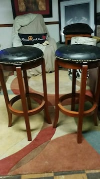two brown wooden bar stools Temple Hills, 20748