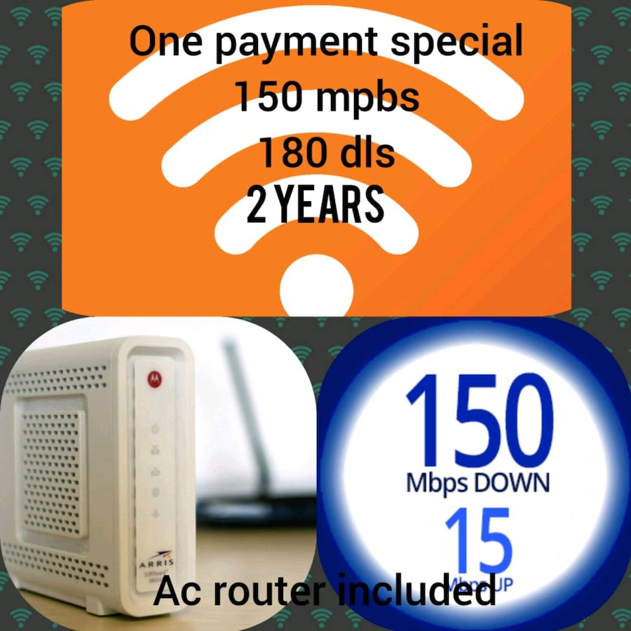 Ac router , wifi , internet