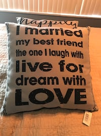 "Brand New black&Grey accent ""quote"" pillows Burlington, L7S 1X9"