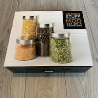 Set of four Kitchen Stuff Plus Cylinder Canisters. Great gift Mississauga, L5R 3G5