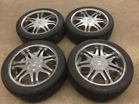 chrome multi-spoke auto wheel with tire set Mississauga, L5A 1Y5